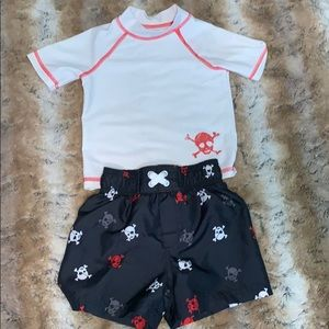 Circo 12months rash guard and swim shorts